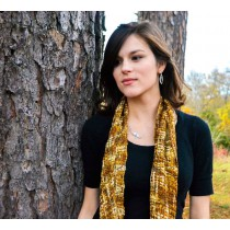 Caramel Cream Silk Scarf